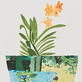 Jonas Wood - Green Landscape Pot with Orchid